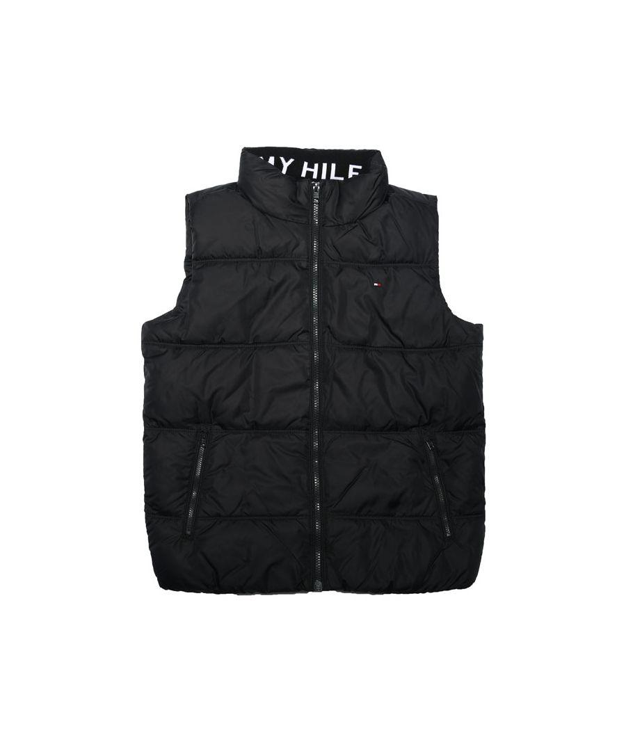 Image for Boy's Tommy Hilfiger infant Solid Vest Gilet in Black