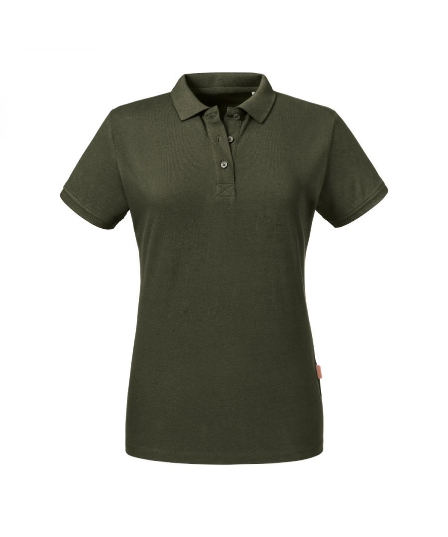 Image for Russell Women's Pure Organic Polo (Dark Olive)