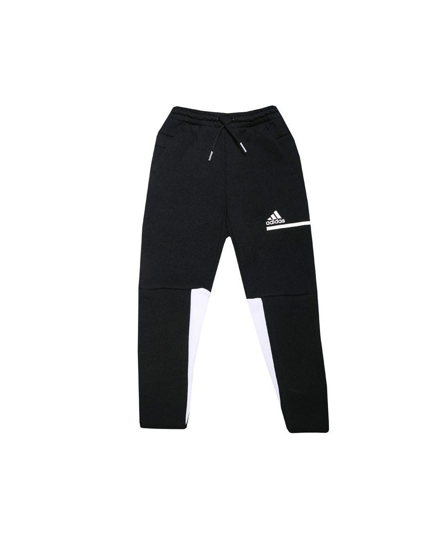 Image for Boys' adidas Junior Z.N.E. Track Pants Black-White 7-8In Black-White