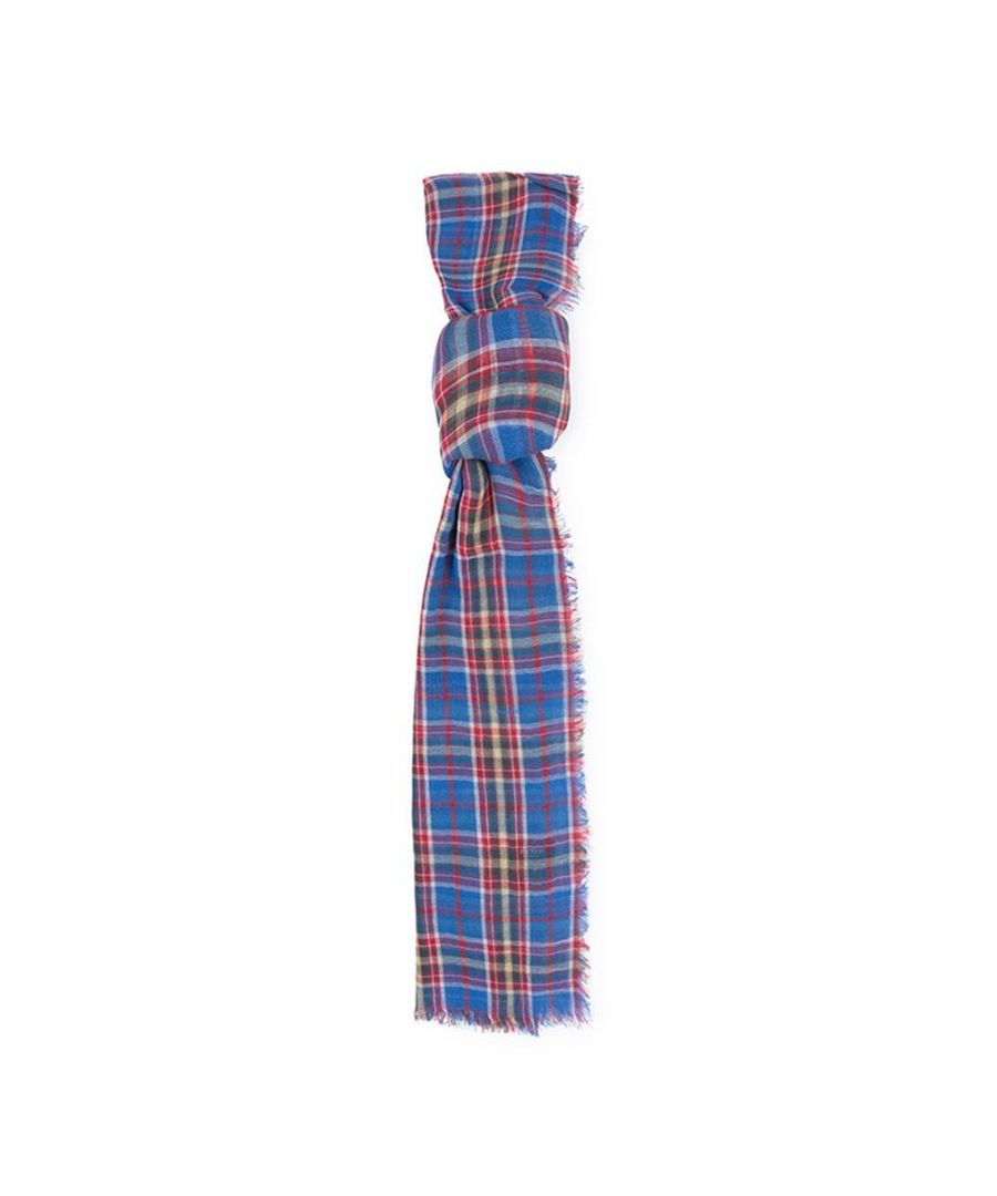 Image for Men's Hackett, Picnic Plaid Scarf in Blue & Red