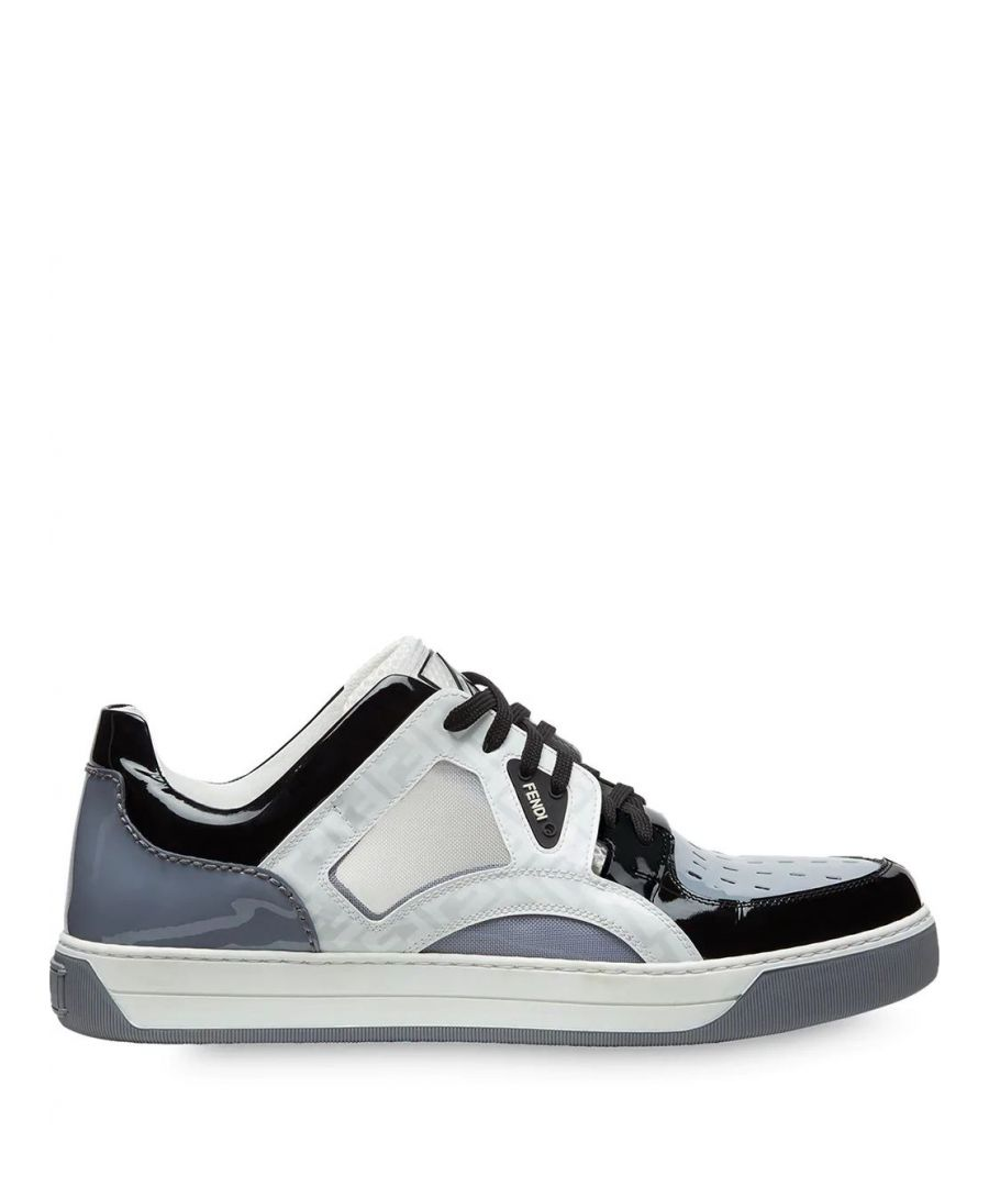 Image for FENDI MEN'S 7E1204A8PHF183D GREY LEATHER SNEAKERS