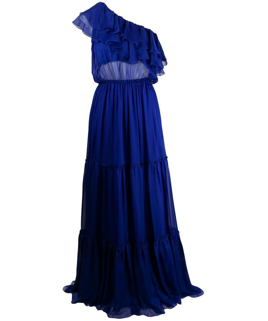 Image for FEDERICA TOSI WOMEN'S FTE20AB0060CH0006011 BLUE SILK DRESS