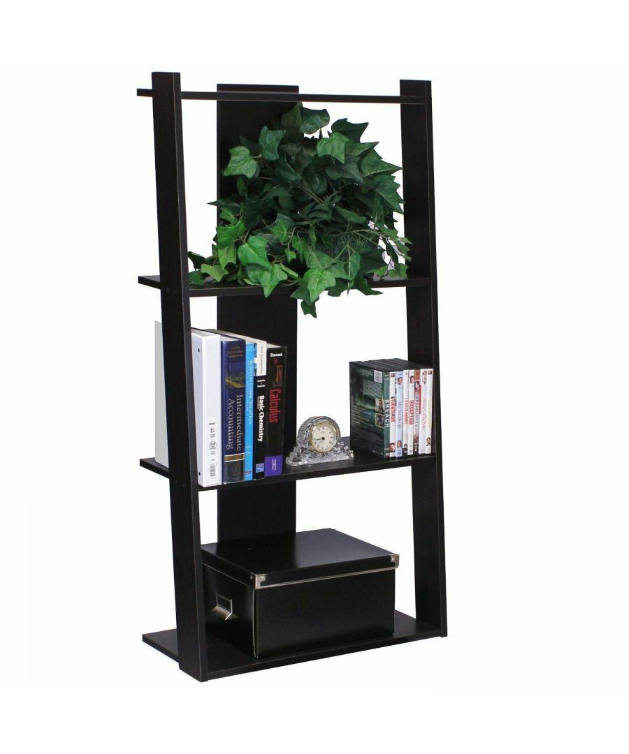 Image for Furinno Hidup Tropika Tall Ladder Shelf - Espresso