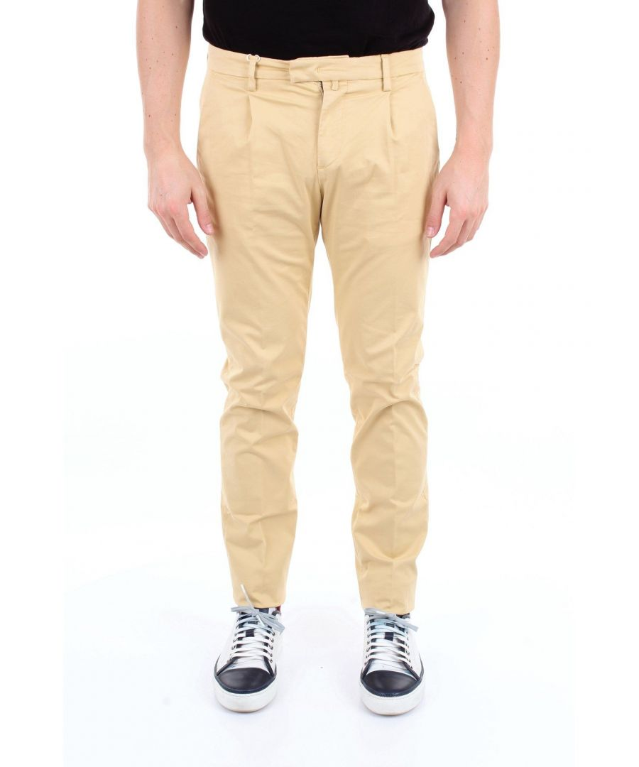 Image for BRIGLIA 1949 MEN'S BG073908CREMA BEIGE COTTON PANTS