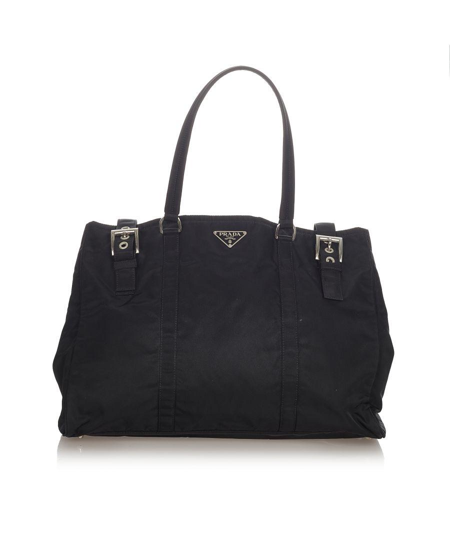 Image for Vintage Prada Tessuto Tote Bag Black