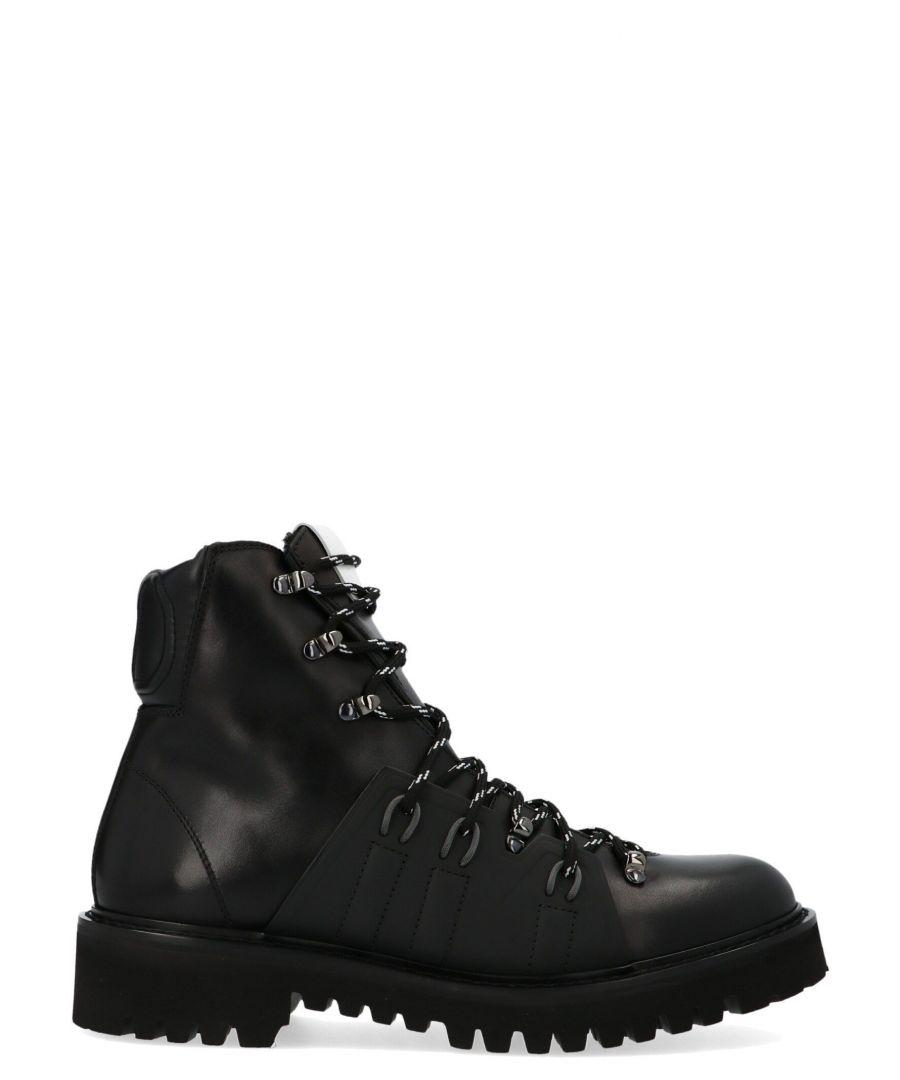 Image for VALENTINO GARAVANI MEN'S SY0S0C66NTU0NO BLACK LEATHER ANKLE BOOTS