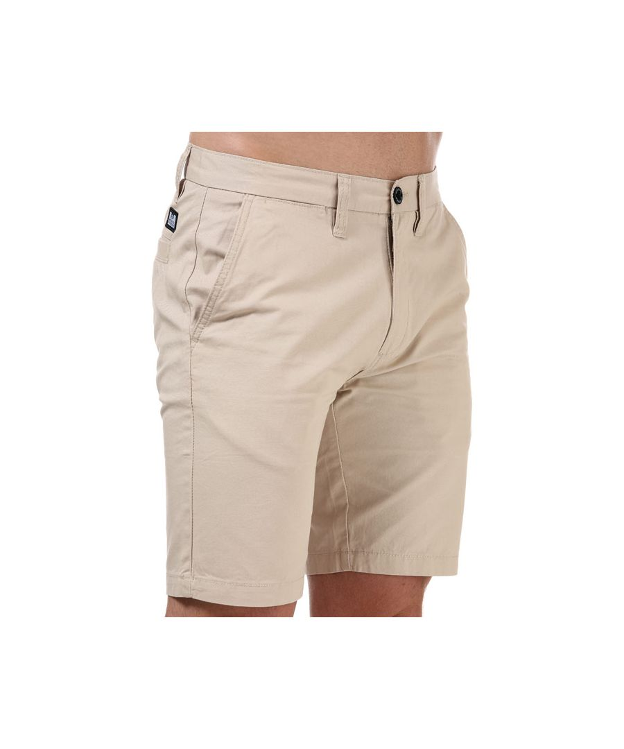 Image for Men's Weekend Offender Dillenger Cotton Twill Chino Shorts in Sand