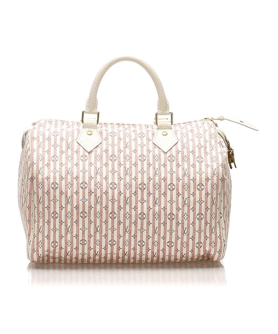 Image for Vintage Louis Vuitton Mini Lin Croisette Speedy 30 White