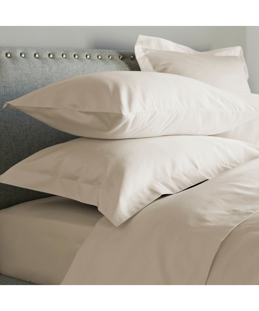 Image for 600 Thread Count Flat Sheet - Ivory