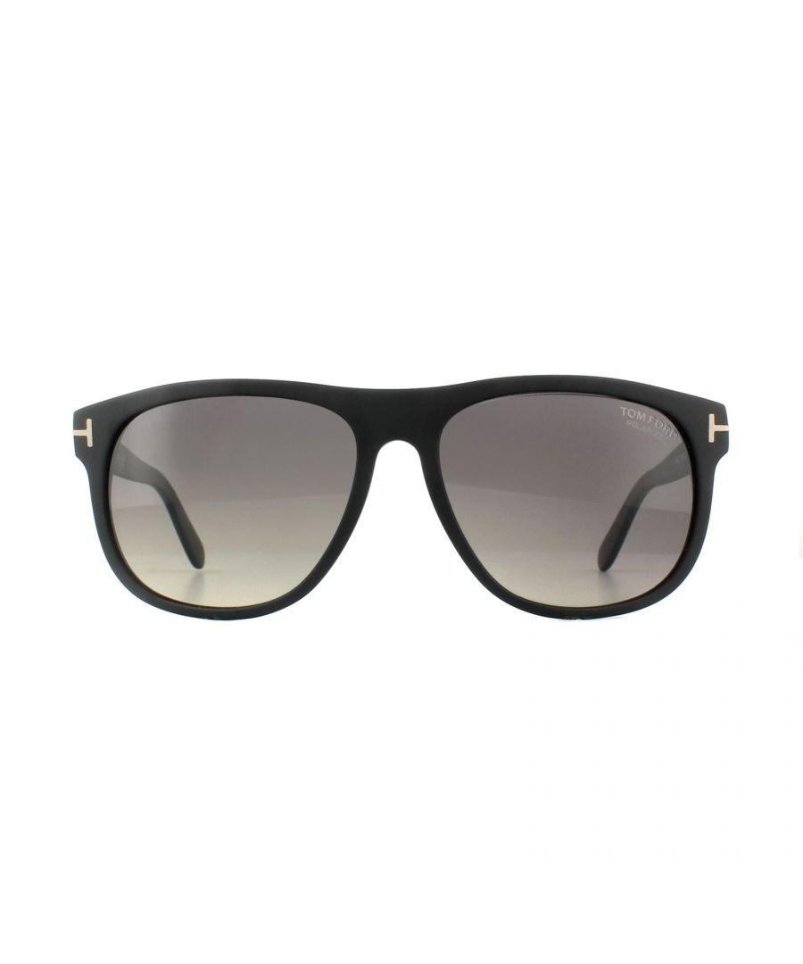 Image for Tom Ford Sunglasses 0623 Laurent 02D Matt Black Smoke Grey Polarized
