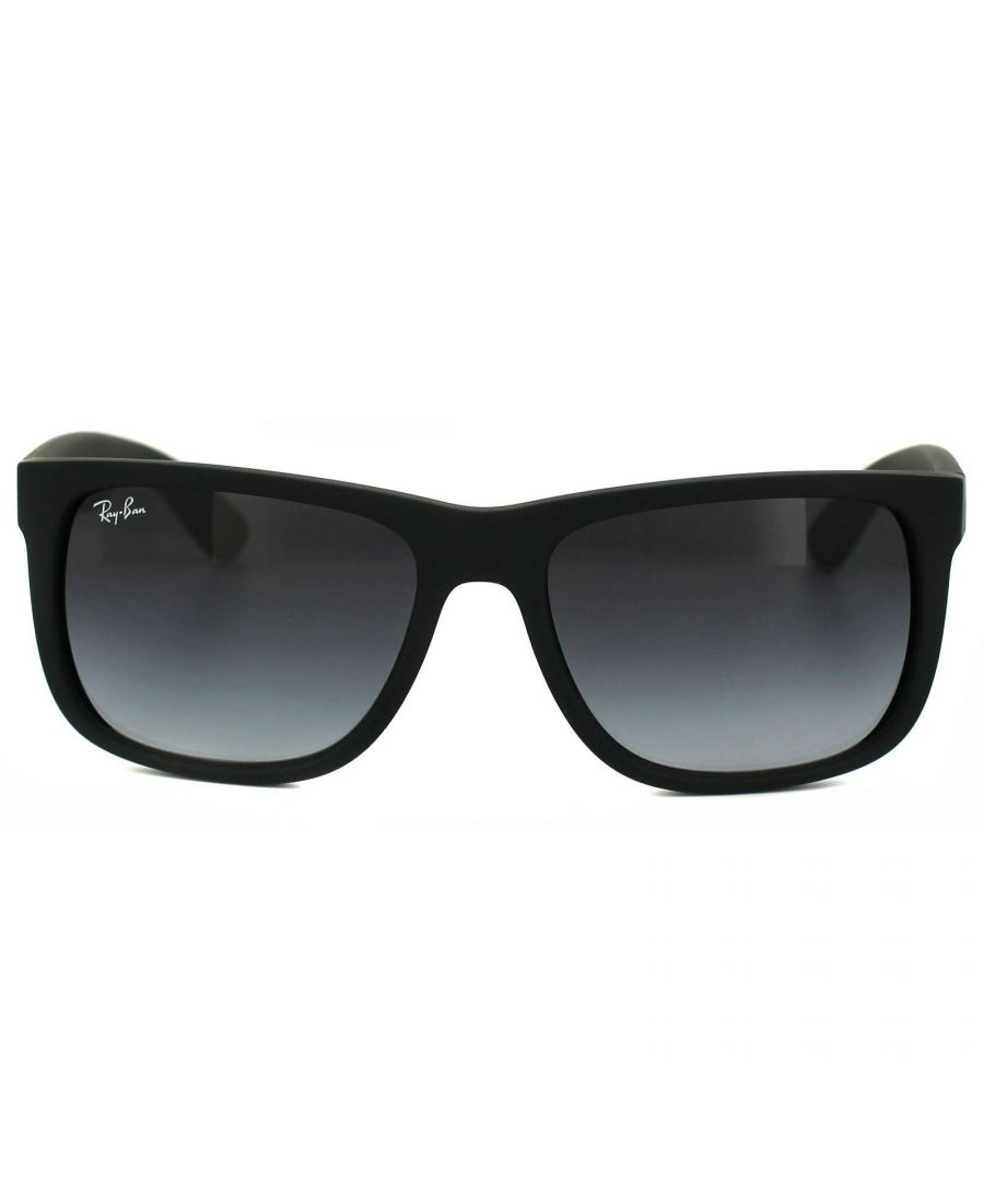 Image for Ray-Ban Sunglasses Justin 4165 Rubber Black Grey Gradient 601/8G
