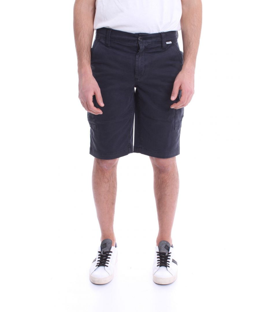 Image for CALVIN KLEIN MEN'S K10K105316DW4 BLUE COTTON SHORTS