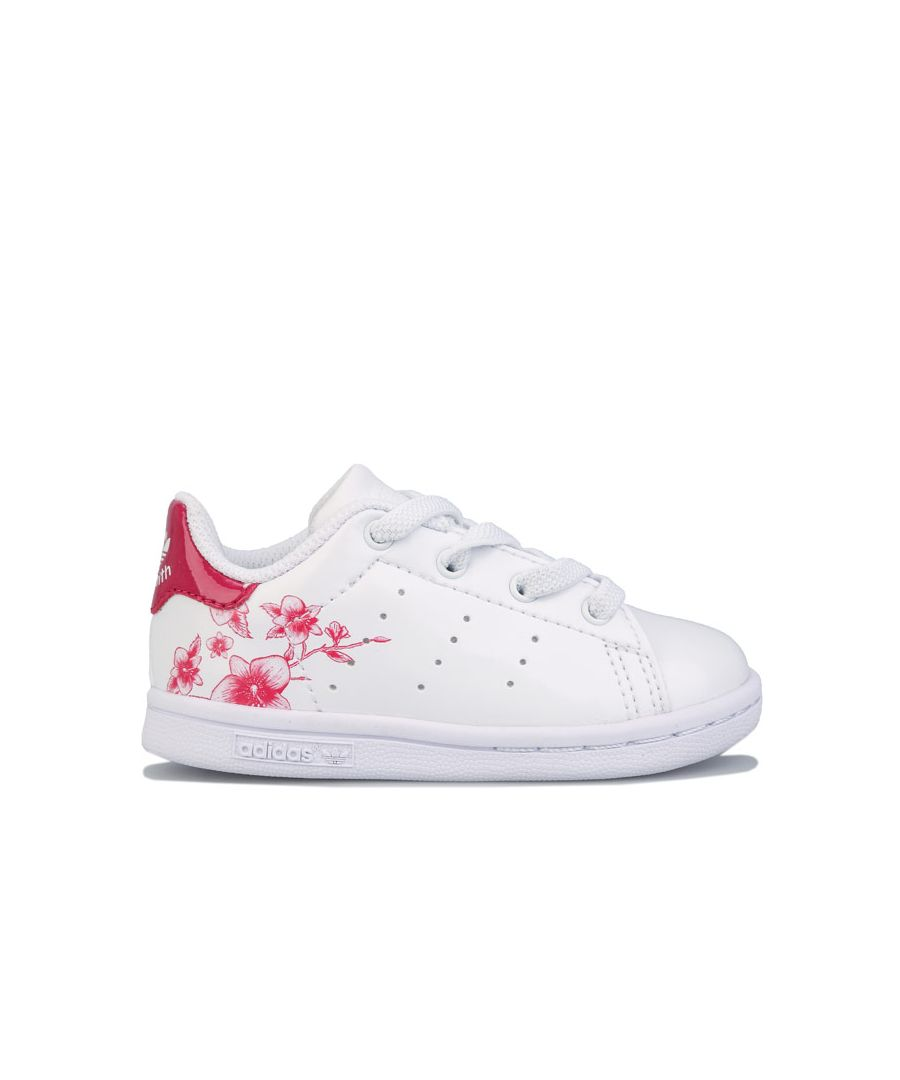 Image for Girl's adidas Originals Infant Stan Smith Trainers White pink 7 infantin White pink