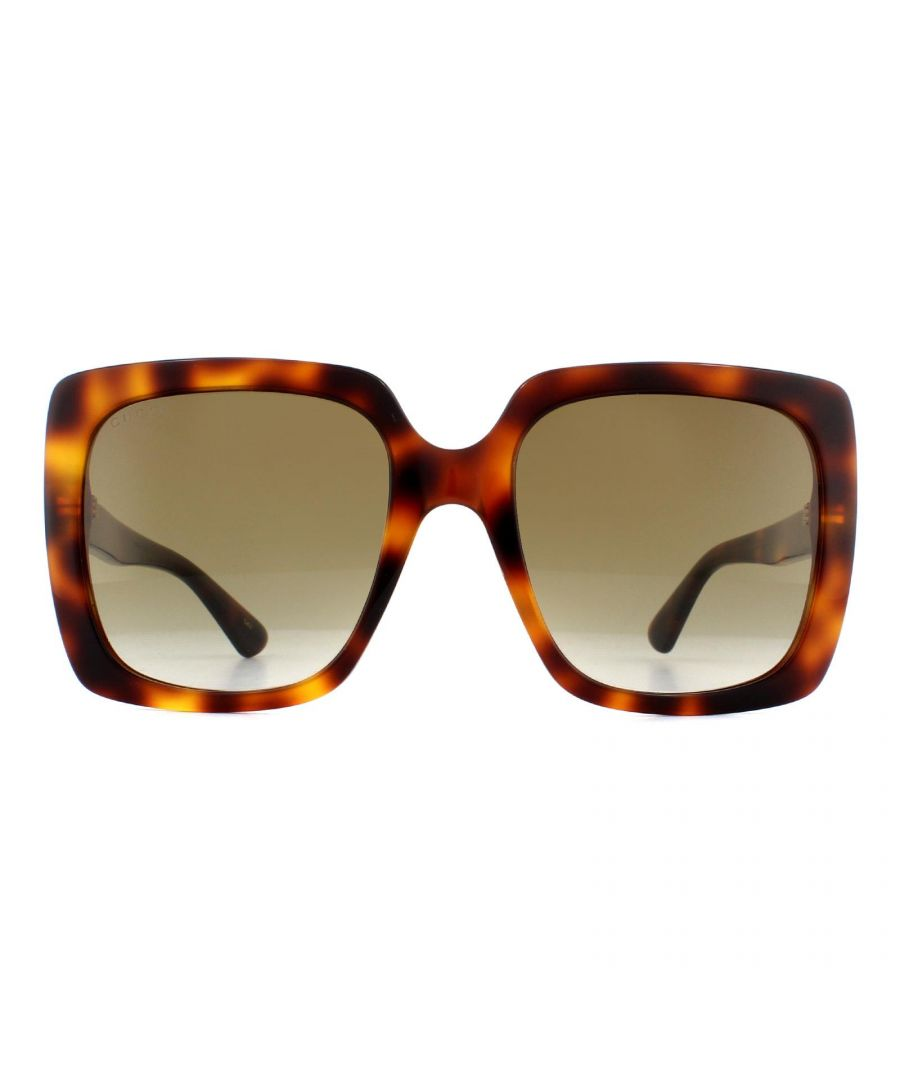 Image for Gucci Sunglasses GG0418S 003 Havana Brown Gradient