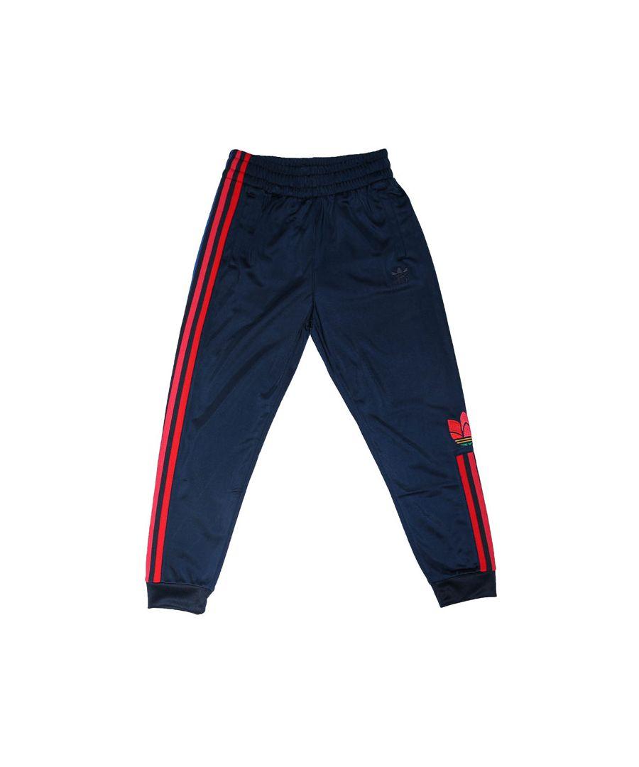 Image for Boy's adidas Originals Junior Adicolor 3D Track Pants in Navy