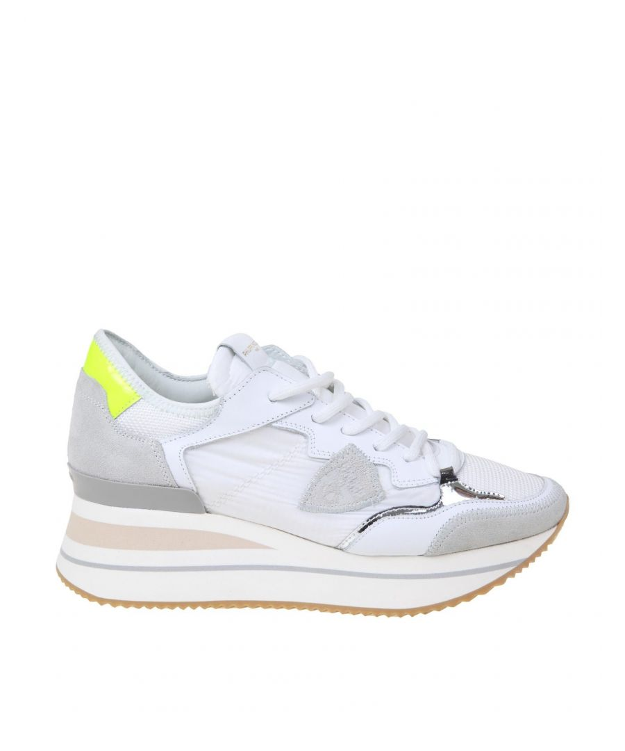 Image for PHILIPPE MODEL WOMEN'S TTLDWN01 WHITE SUEDE SNEAKERS