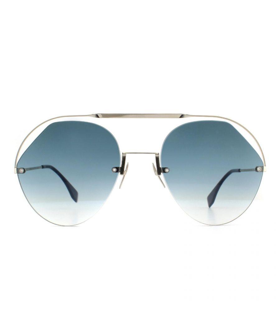 Image for Fendi Sunglasses FF 0326/S PJP 08 Silver Blue Gradient