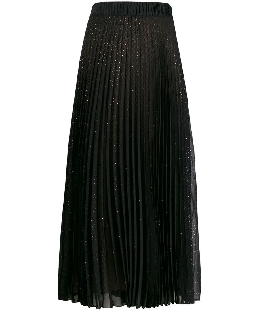 Image for MARCO DE VINCENZO WOMEN'S MQ5232MDVPL06100 BLACK POLYAMIDE SKIRT