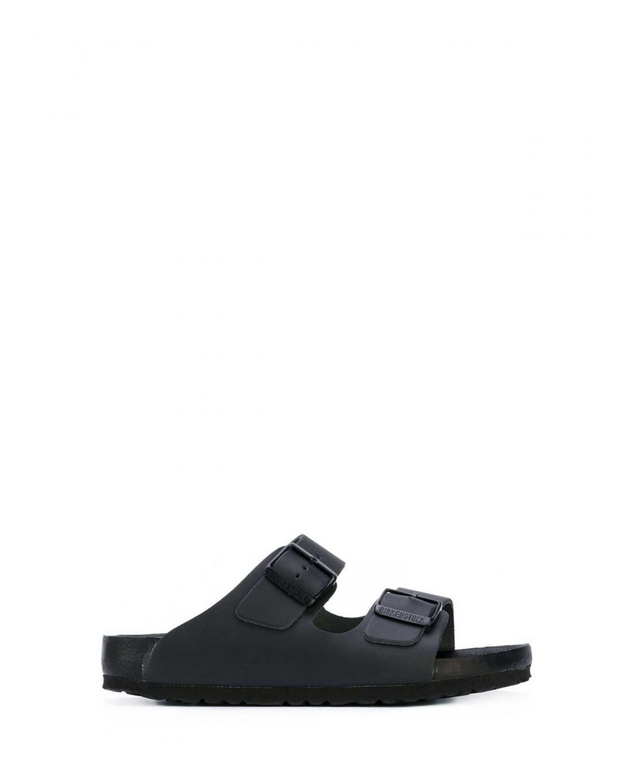 Image for BIRKENSTOCK WOMEN'S 948083 BLACK FAUX LEATHER SANDALS