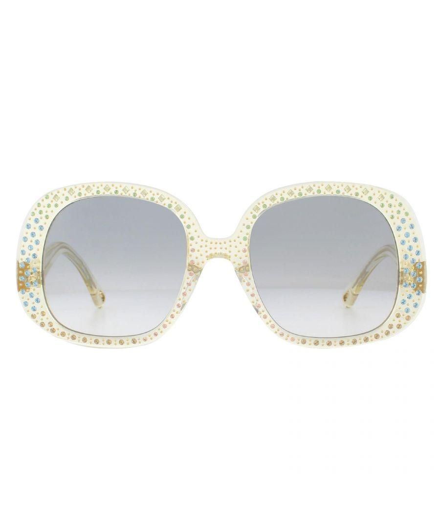 Image for Chloe Sunglasses CE755SR 799 Transparent Yellow Blue Gradient