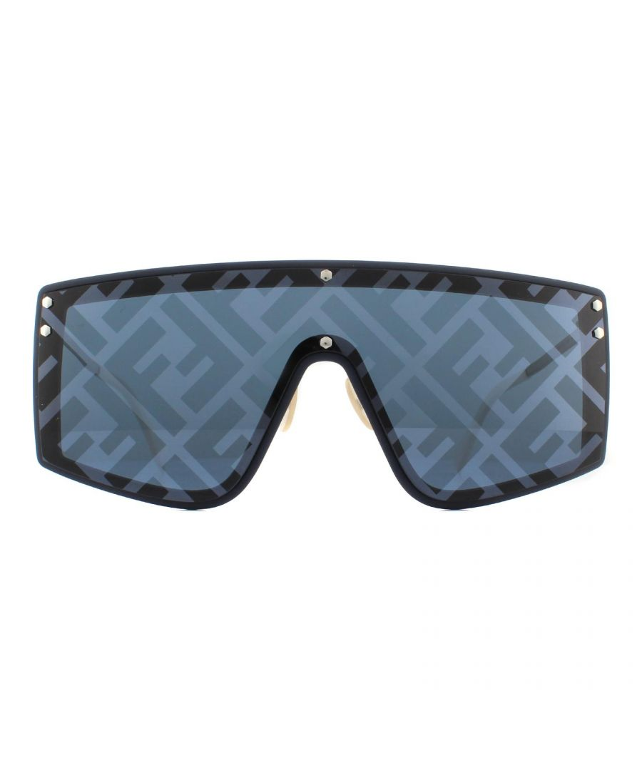 Image for Fendi Sunglasses M0076/G/S PJP 7R Blue and Silver Blue Silver Monogram Pattern