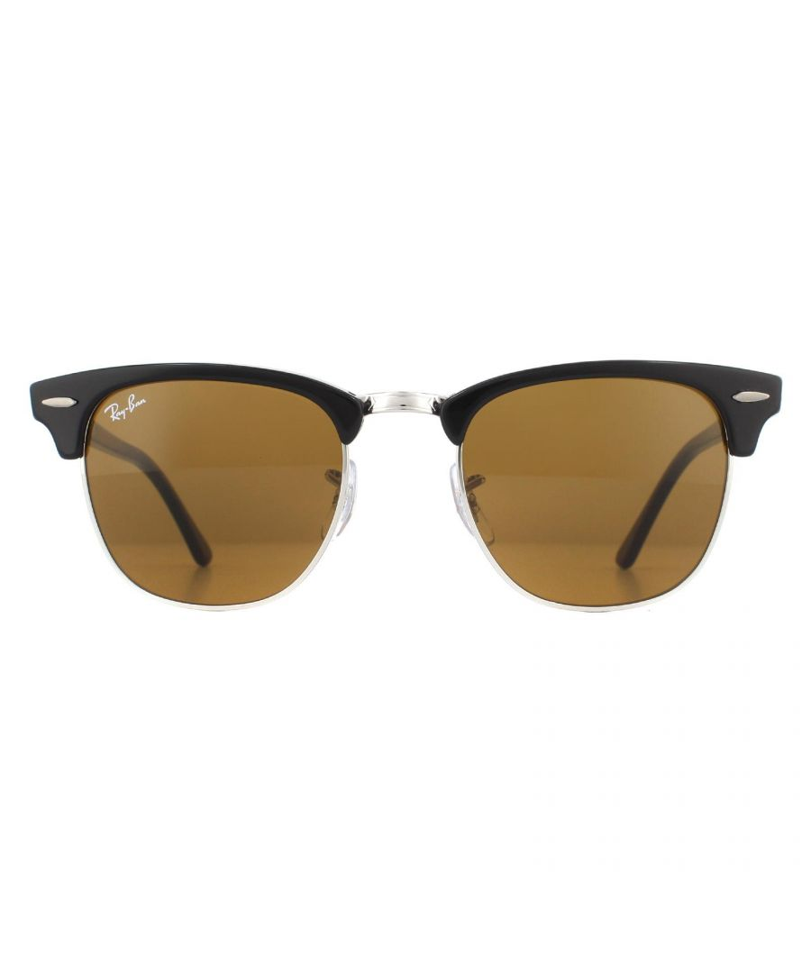 Image for Ray-Ban Sunglasses Clubmaster 3016 W3387 Black Brown B-15 49mm