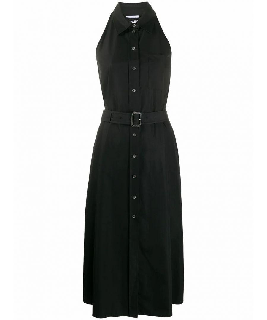 Image for ASPESI WOMEN'S H603D30785241 BLACK COTTON DRESS