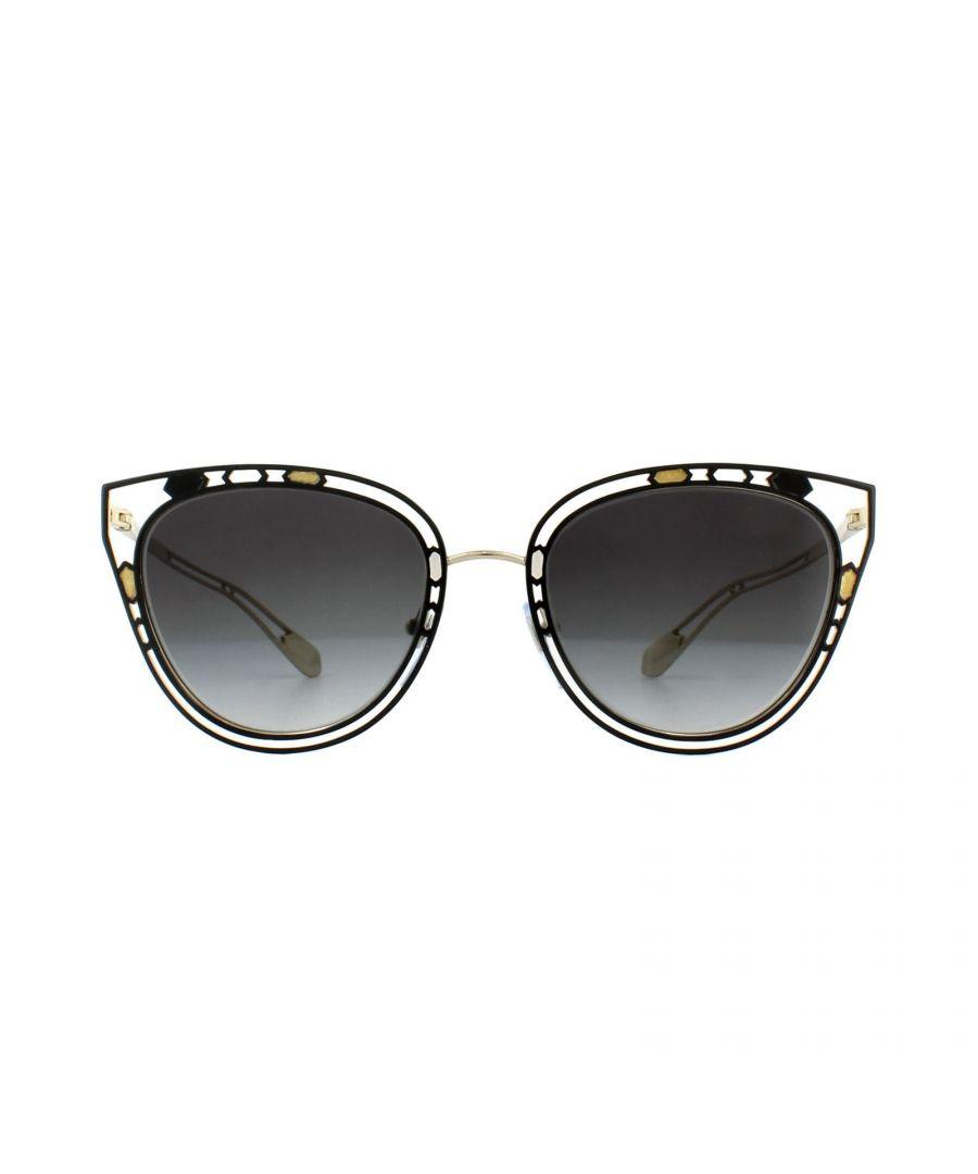 Image for Bvlgari Sunglasses BV6104 20235G Black Pink Gold Grey Gradient