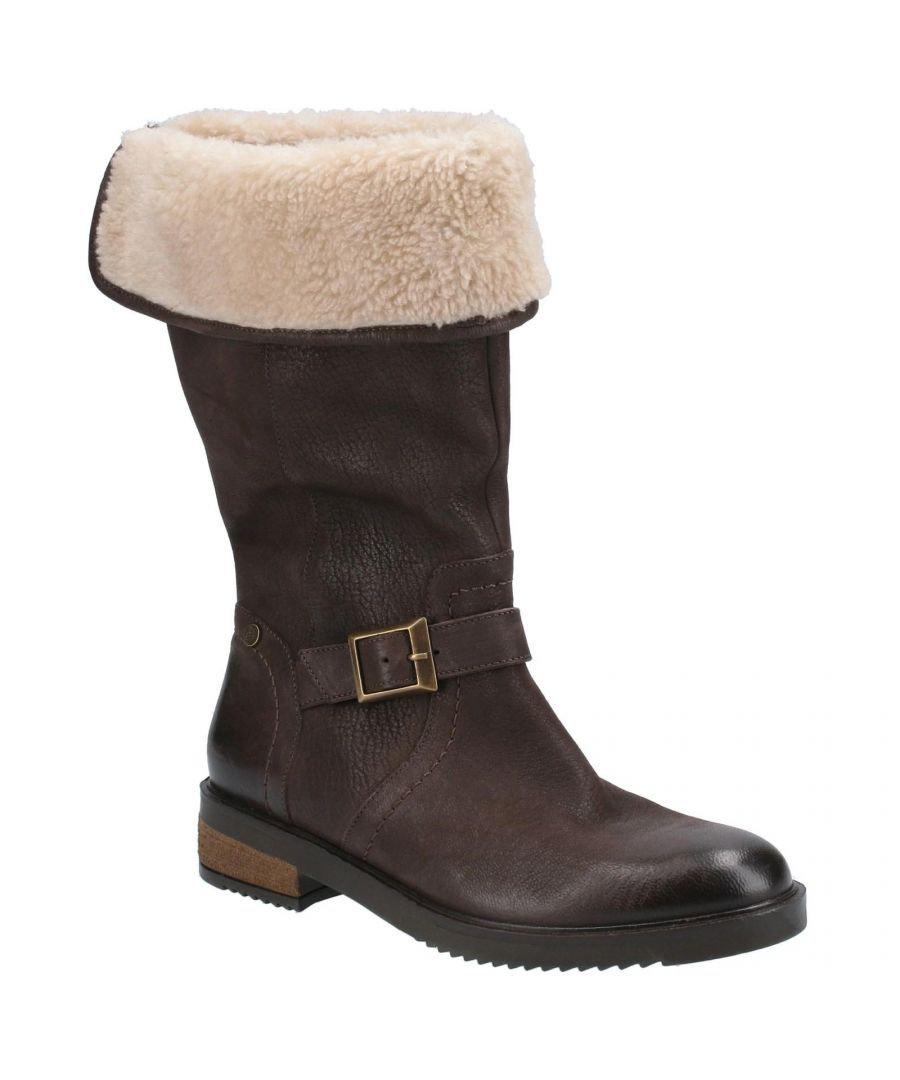 Image for Hush Puppies Women's Bonnie Leather Mid Boots (Brown)