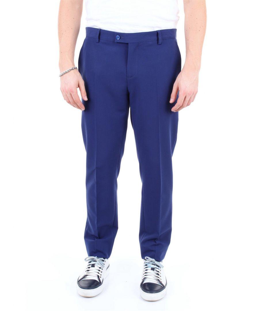 Image for DANIELE ALESSANDRINI MEN'S P3549N8253900BLU BLUE POLYESTER PANTS