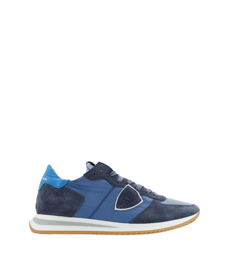 Image for PHILIPPE MODEL MEN'S TZLUW033 BLUE SUEDE SNEAKERS