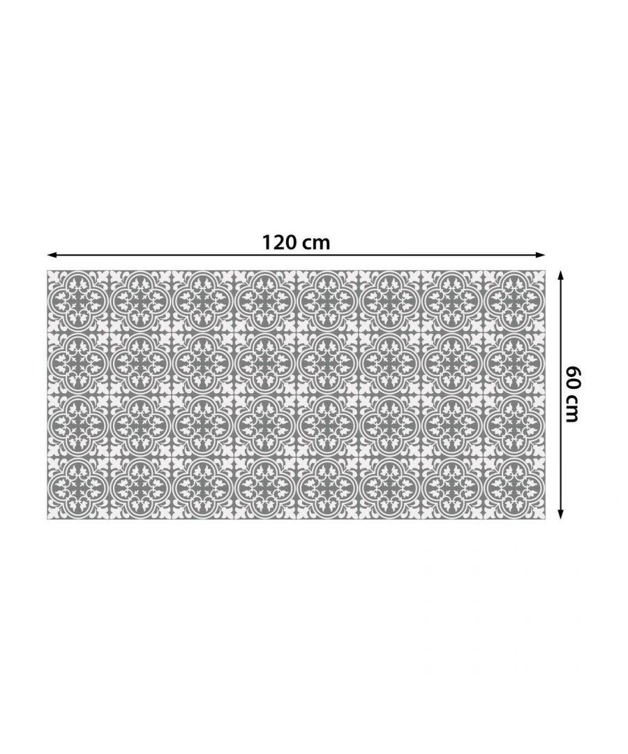 Image for WFS6016 - Cement Antique Floral Tulip Pattern Floor Stickers 120cm x 60 cm