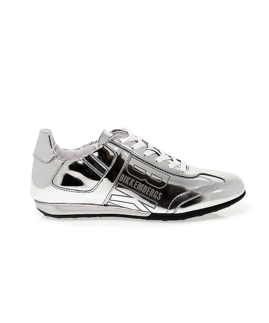 Image for BIKKEMBERGS WOMEN'S BKW101309 SILVER LEATHER SNEAKERS