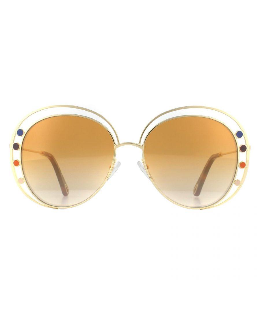 Image for Chloe Sunglasses CE169S Delilah 889 Gold Brown Bronze Flash Gradient