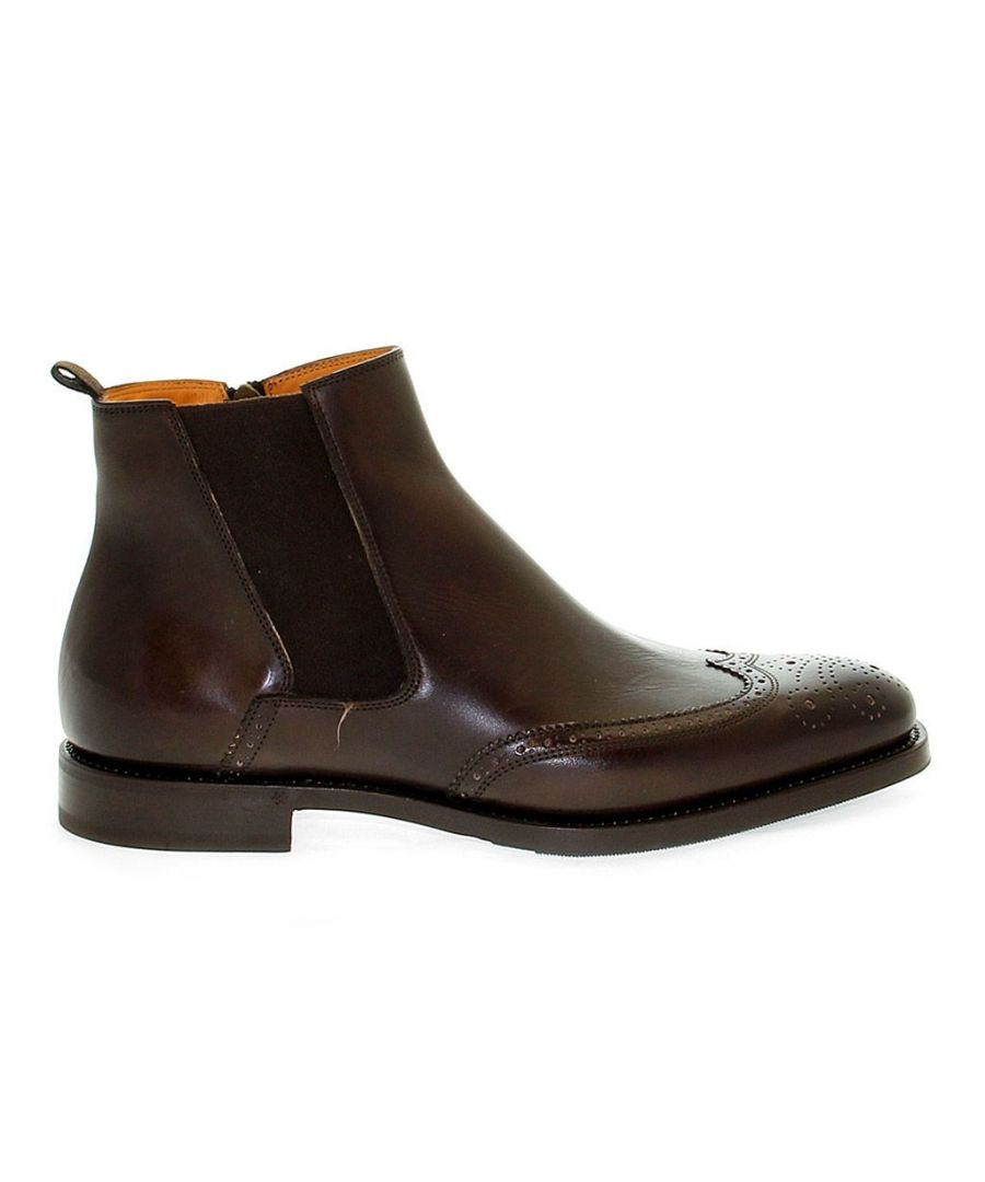 Image for FABI MEN'S FU7065BROWN BROWN LEATHER ANKLE BOOTS