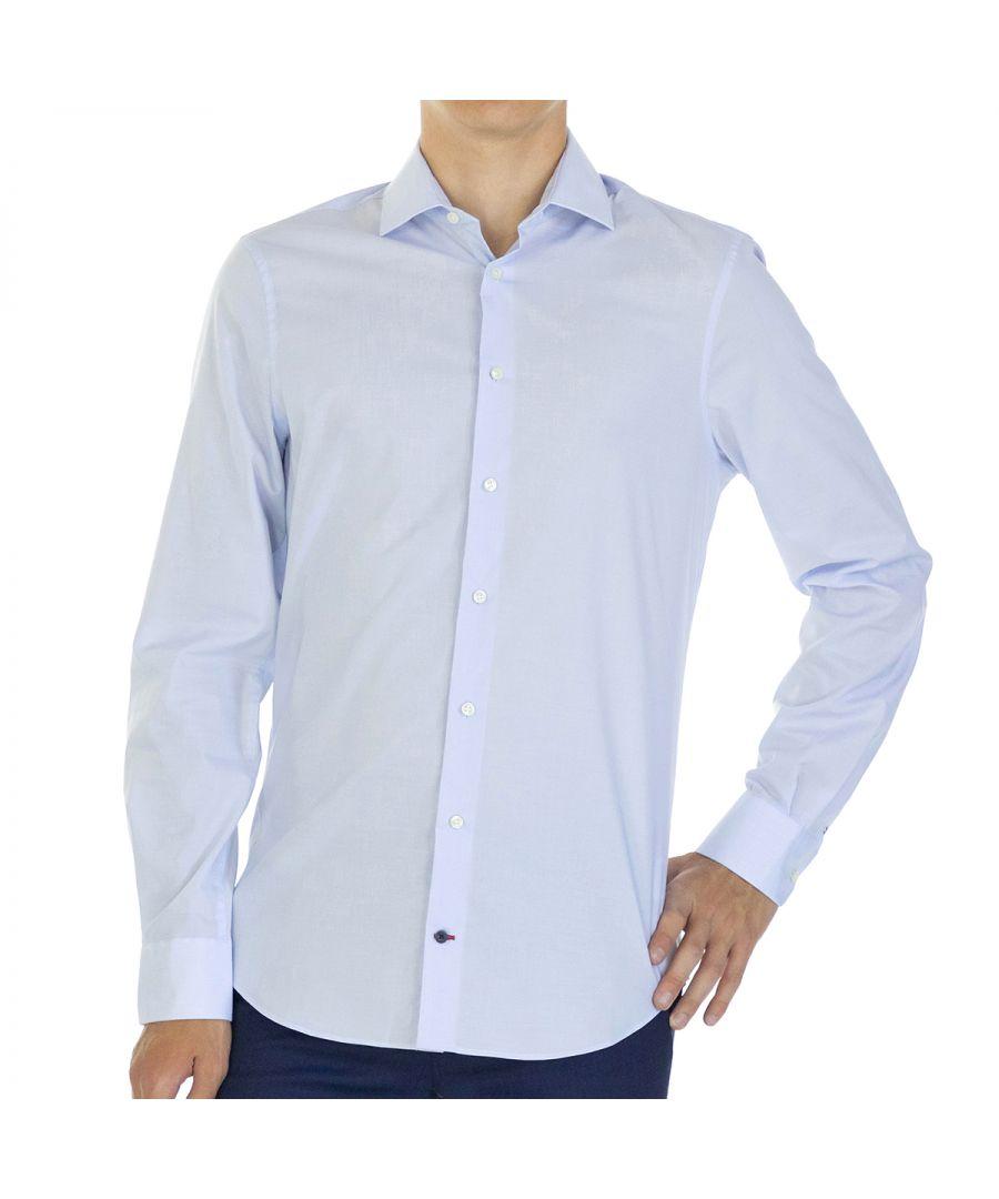 Image for Tommy Hilfiger Men Shirt Slim Fit  Full sleeve Light Blue