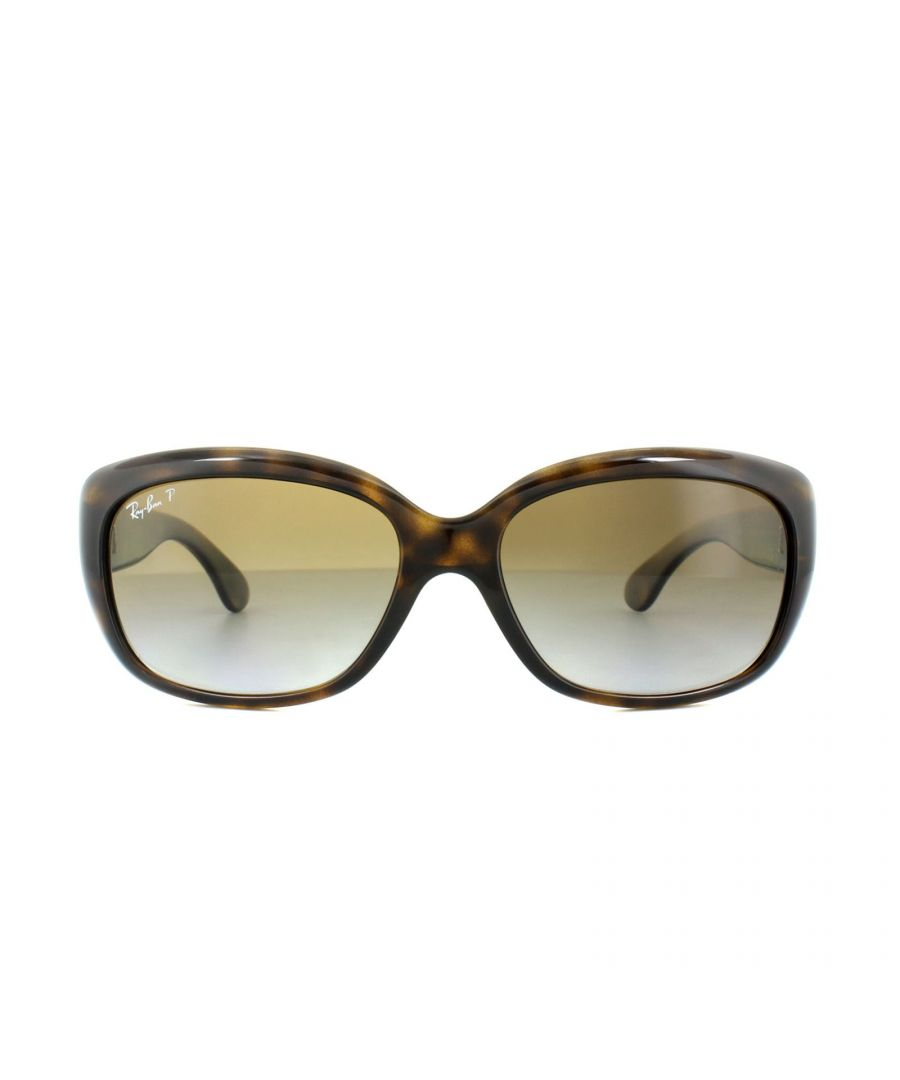 Image for Ray-Ban Sunglasses Jackie Ohh 4101 710/T5 Tortoise Brown Gradient Polarized