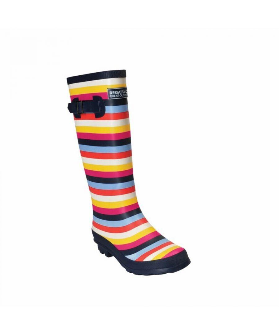 Image for Regatta Womens/Ladies Ly Fairweather II Tall Durable Wellington Boots (Multicoloured Stripe)