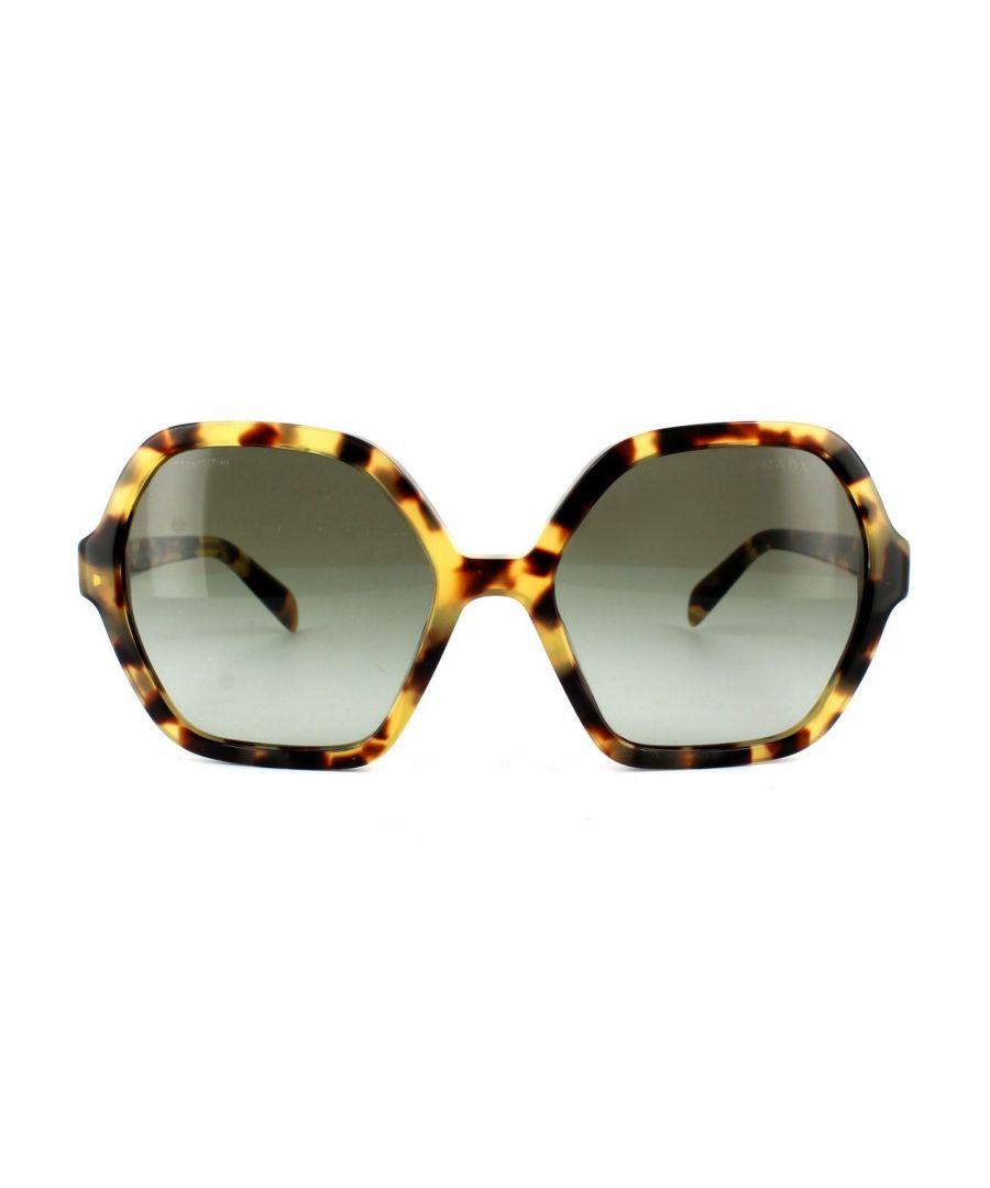 Image for Prada Sunglasses 06SS 7S04K1 Light Havana Green Grey Gradient