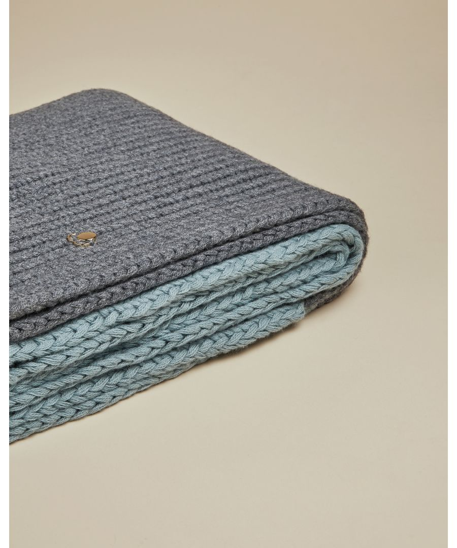 Image for Ted Baker Alnita Cbn Knitted Large Cable Scarf, Light Blue