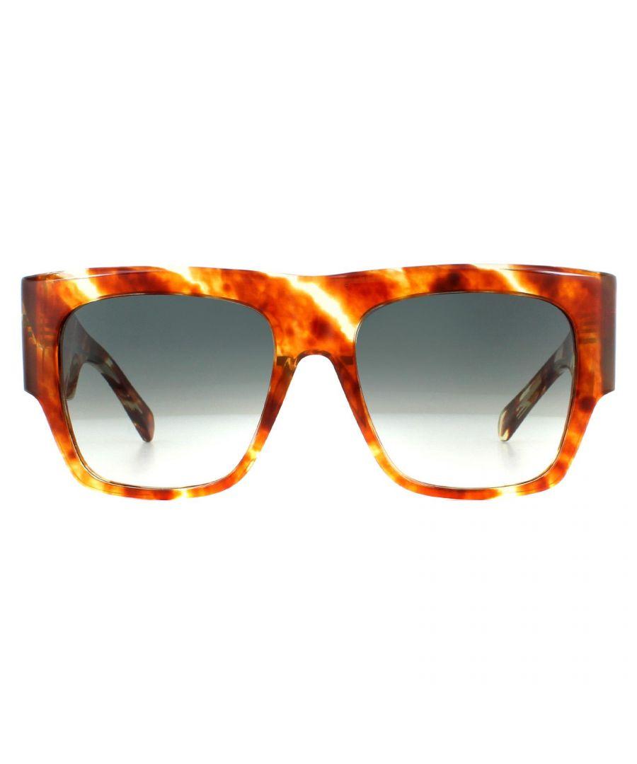 Image for Celine Sunglasses CL40056I 56P Striped Havana Green Gradient