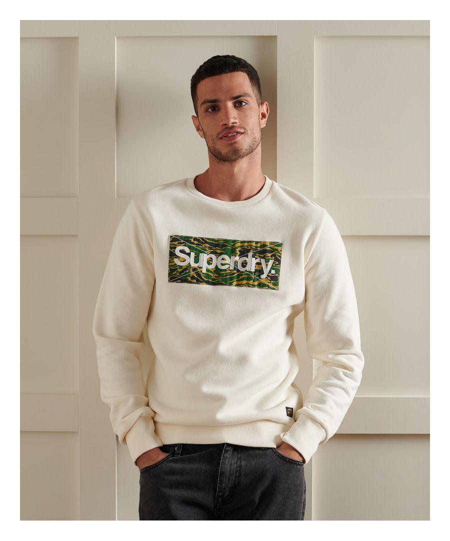 Image for Superdry Core Logo Canvas Crew Sweatshirt