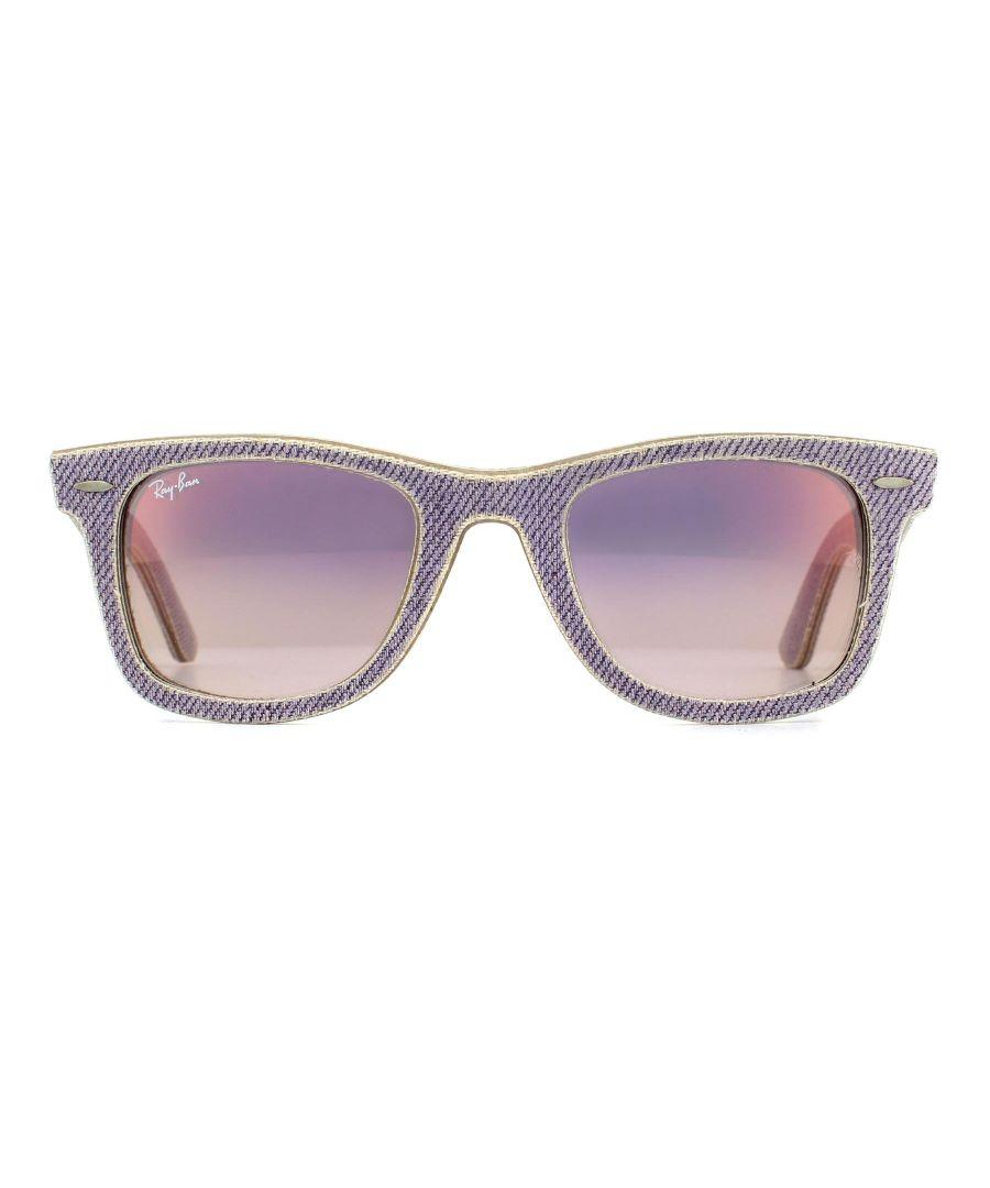Image for Ray-Ban Sunglasses Wayfarer 2140 1167S5 Denim Lilac Lilac Gradient Mirror 50mm