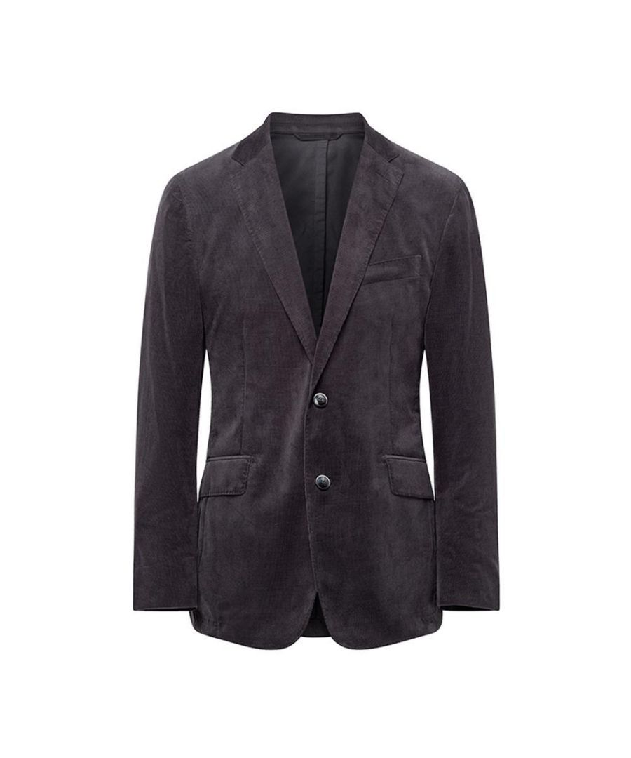 Image for Men's Hackett, Stretch Cotton Cord Jacket in Grey
