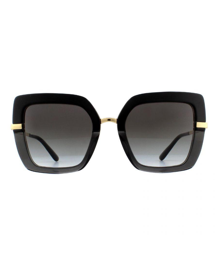 Image for Dolce & Gabbana Sunglasses DG4373 32468G Top Black on Transparent Black Grey Gradient