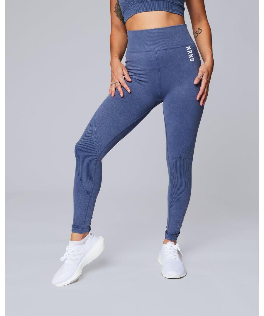 Image for Denim Look Seamless Leggings in Indigo_Blue