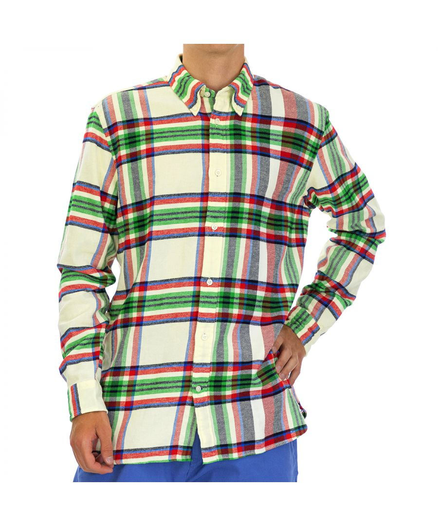 Image for Tommy Hilfiger Men's Shirt Relaxed Fit with Long Sleeve Multicolor