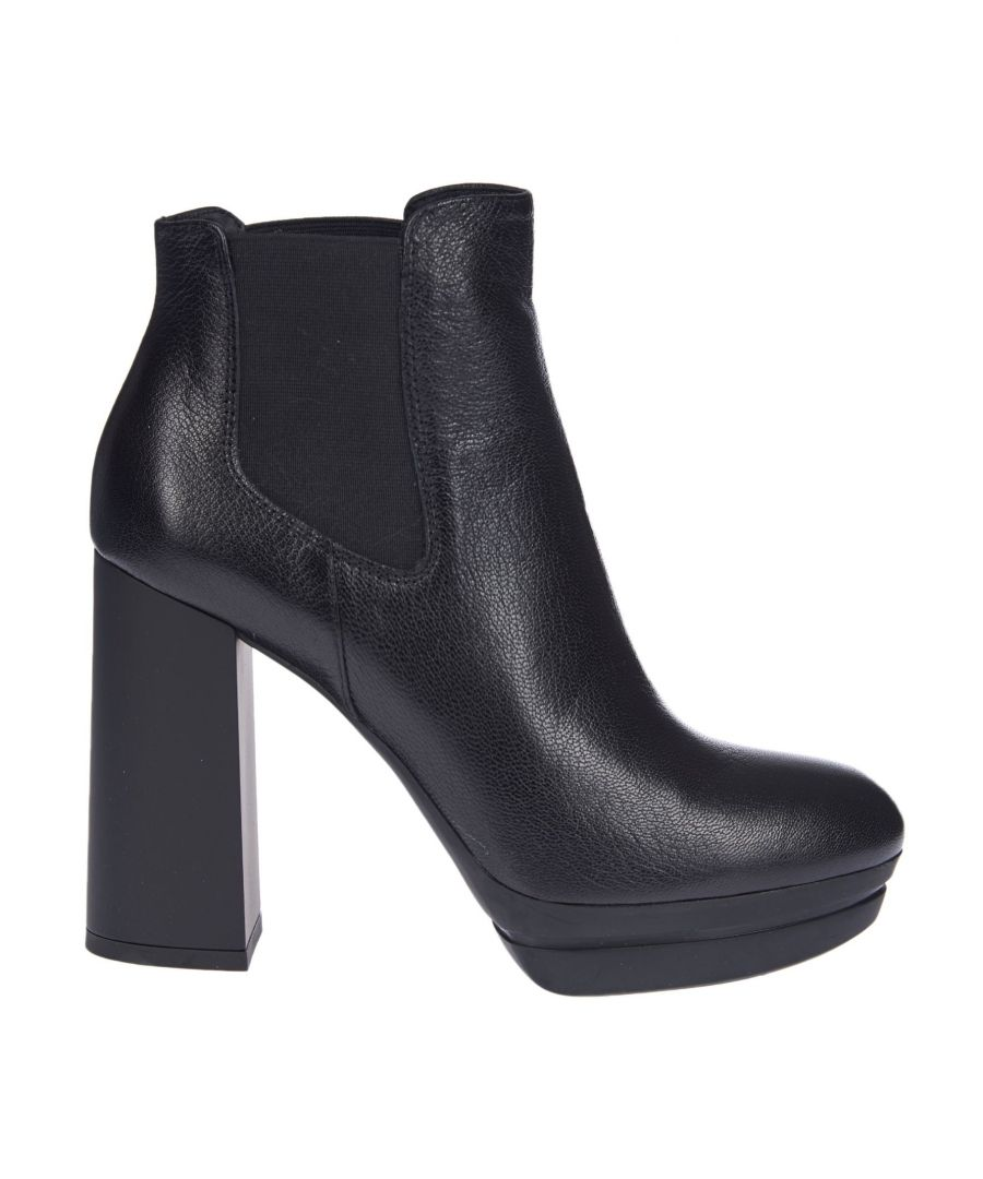 Image for HOGAN WOMEN'S HXW3910W710LF7B999 BLACK LEATHER ANKLE BOOTS