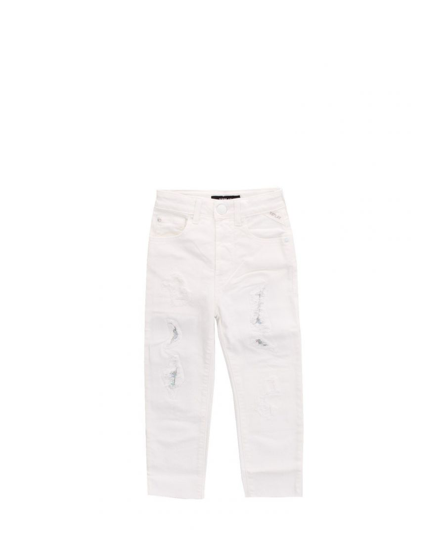Image for REPLAY BOYS SG93440508005238001 WHITE COTTON JEANS