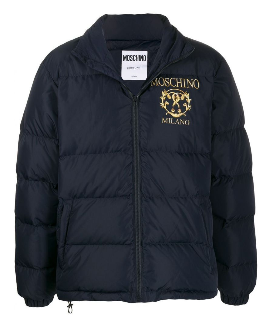 Image for MOSCHINO MEN'S A062652181510 BLUE POLYESTER DOWN JACKET